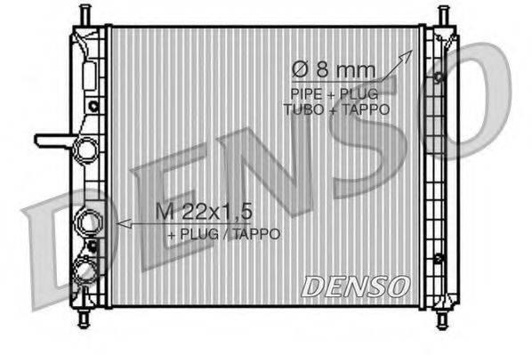 Радиатор, охлаждение двигателя DENSO DRM09150