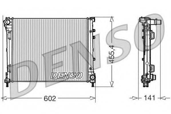 Радиатор, охлаждение двигателя DENSO DRM09160