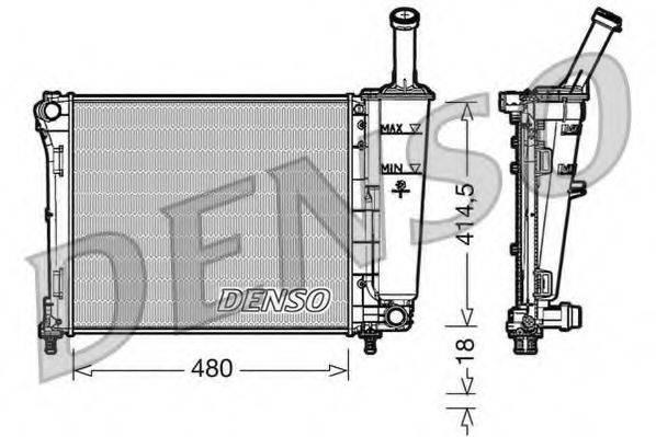 Радиатор, охлаждение двигателя DENSO DRM09161