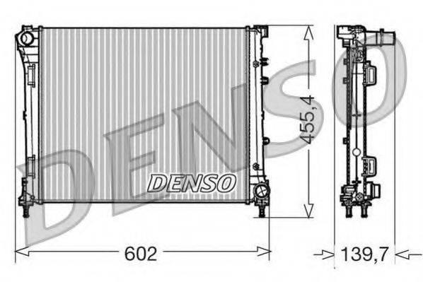 Радиатор, охлаждение двигателя DENSO DRM09162