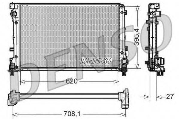 Радиатор, охлаждение двигателя DENSO DRM09163