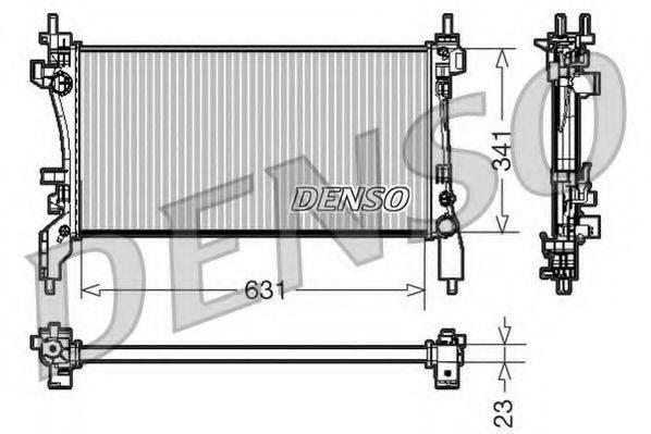 Радиатор, охлаждение двигателя DENSO DRM09172