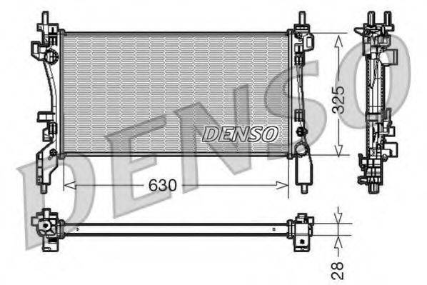 Радиатор, охлаждение двигателя DENSO DRM09173