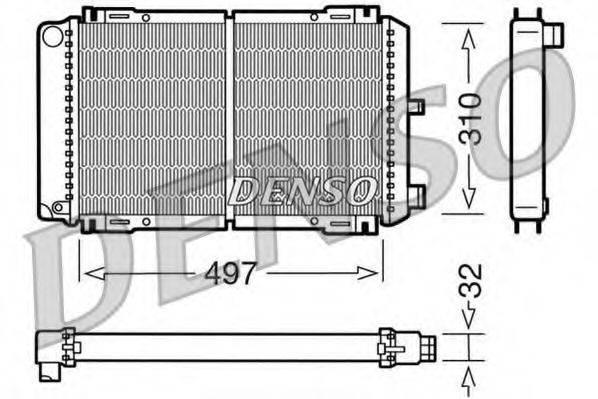 Радиатор, охлаждение двигателя DENSO DRM10031