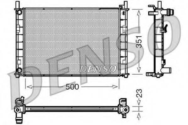 Радиатор, охлаждение двигателя DENSO DRM10046