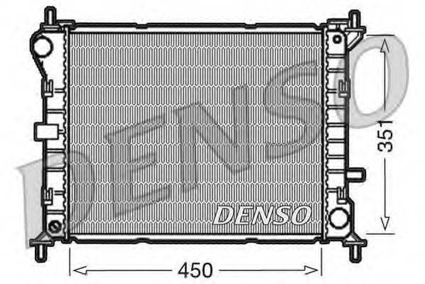 Радиатор, охлаждение двигателя DENSO DRM10050