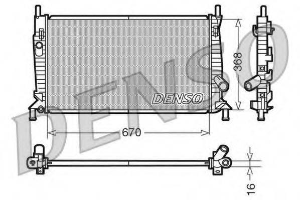 Радиатор, охлаждение двигателя DENSO DRM10075