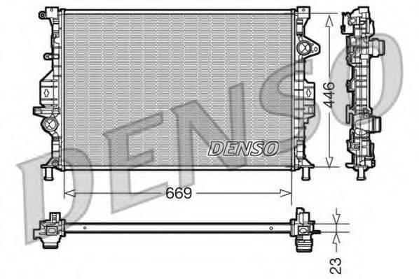 Радиатор, охлаждение двигателя DENSO DRM10077