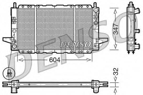 Радиатор, охлаждение двигателя DENSO DRM10086
