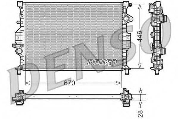 Радиатор, охлаждение двигателя DENSO DRM10088