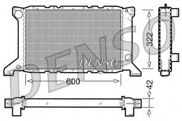 Радиатор, охлаждение двигателя DENSO DRM10098