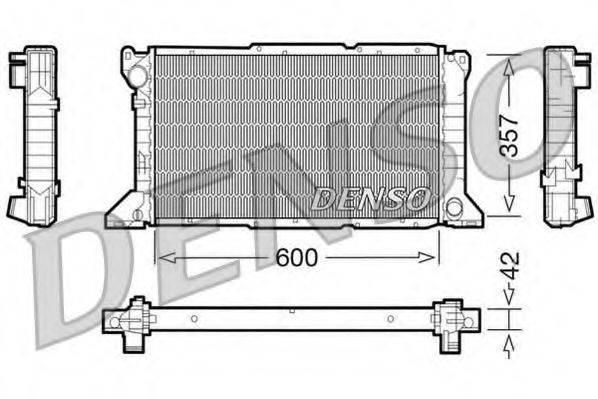 Радиатор, охлаждение двигателя DENSO DRM10100