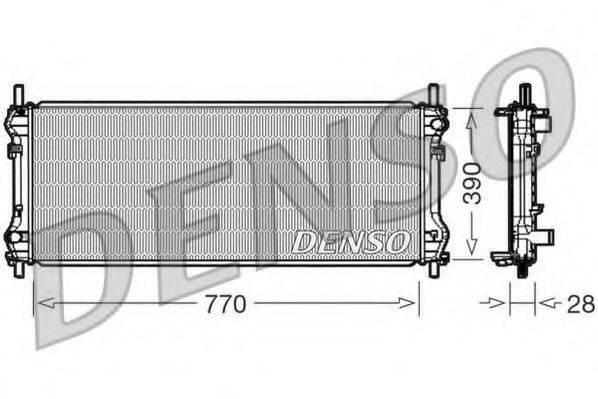 Радиатор, охлаждение двигателя DENSO DRM10103