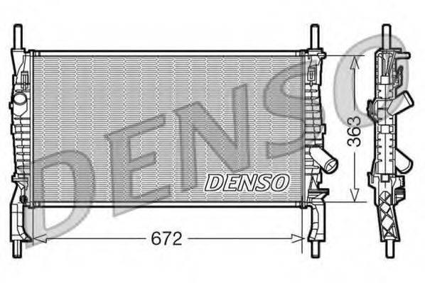 Радиатор, охлаждение двигателя DENSO DRM10105