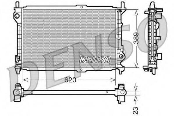 Радиатор, охлаждение двигателя DENSO DRM10107