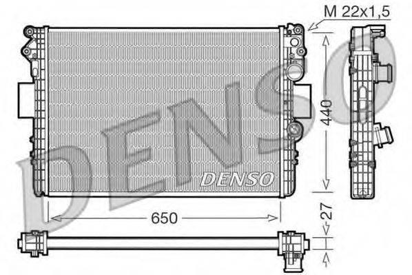 Радиатор, охлаждение двигателя DENSO DRM12002