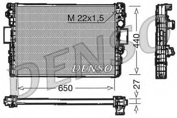 Радиатор, охлаждение двигателя DENSO DRM12003