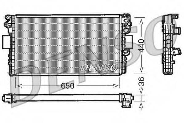 Радиатор, охлаждение двигателя DENSO DRM12004