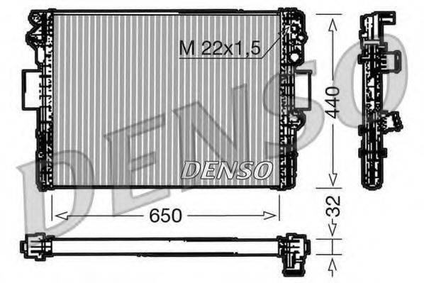 Радиатор, охлаждение двигателя DENSO DRM12005