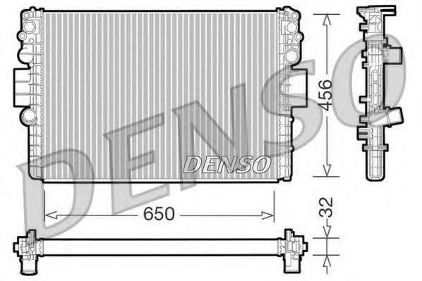 Радиатор, охлаждение двигателя DENSO DRM12006