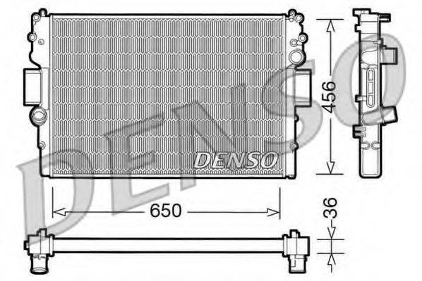 Радиатор, охлаждение двигателя DENSO DRM12007