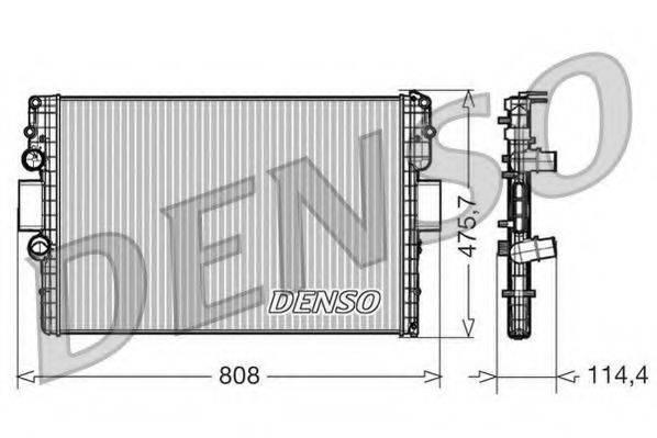 Радиатор, охлаждение двигателя DENSO DRM12010