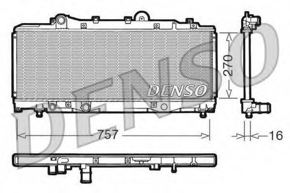 Радиатор, охлаждение двигателя DENSO DRM13001