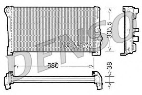 Радиатор, охлаждение двигателя DENSO DRM13010