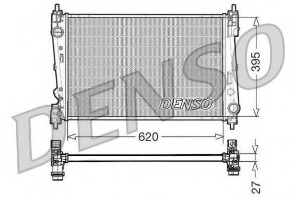 Радиатор, охлаждение двигателя DENSO DRM13015