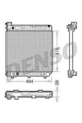 Радиатор, охлаждение двигателя DENSO DRM17002