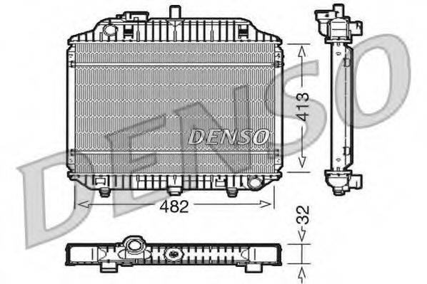 Радиатор, охлаждение двигателя DENSO DRM17010