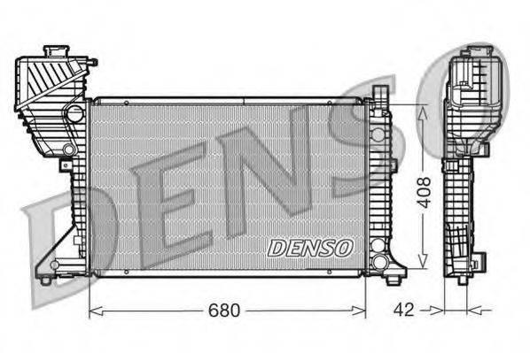 Радиатор, охлаждение двигателя DENSO DRM17011