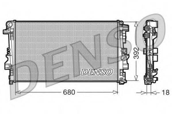 Радиатор, охлаждение двигателя DENSO DRM17012