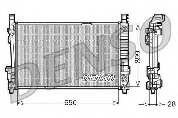 Радиатор, охлаждение двигателя DENSO DRM17013