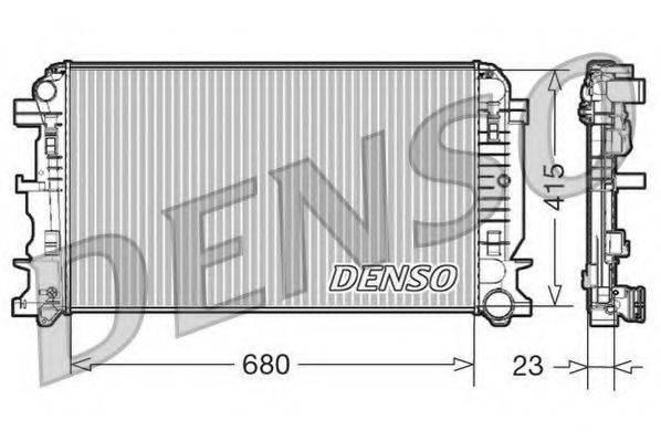 Радиатор, охлаждение двигателя DENSO DRM17018