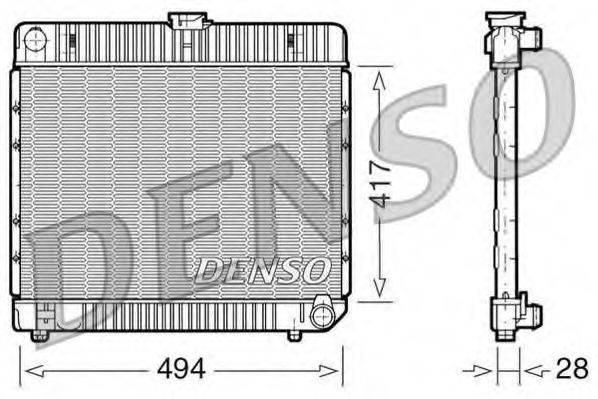 Радиатор, охлаждение двигателя DENSO DRM17020