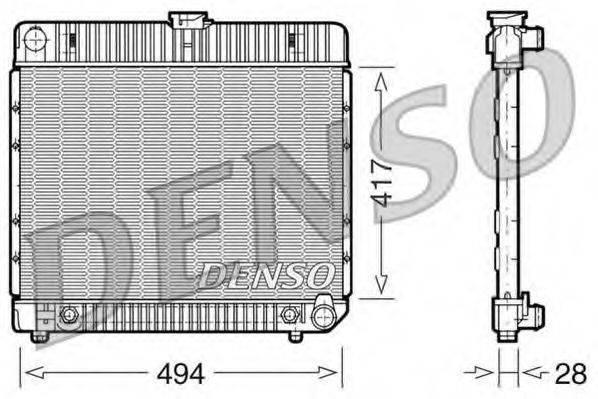 Радиатор, охлаждение двигателя DENSO DRM17021