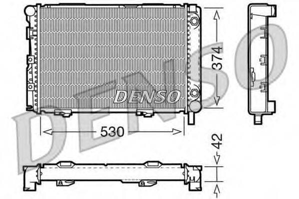 Радиатор, охлаждение двигателя DENSO DRM17026