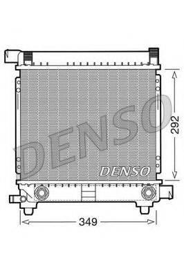 Радиатор, охлаждение двигателя DENSO DRM17027