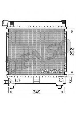 Радиатор, охлаждение двигателя DENSO DRM17028
