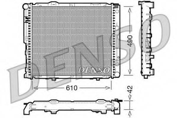 Радиатор, охлаждение двигателя DENSO DRM17033