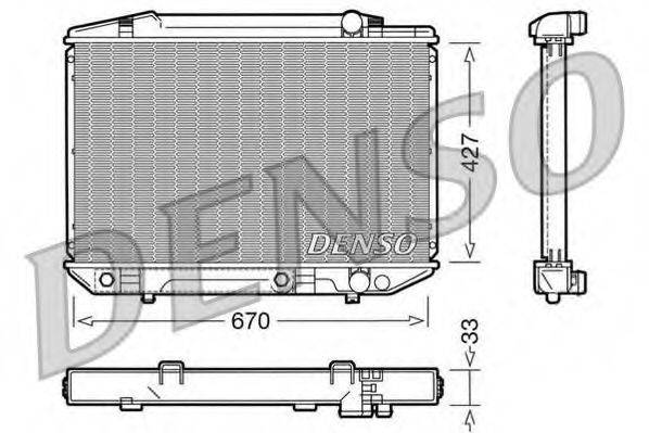 Радиатор, охлаждение двигателя DENSO DRM17051