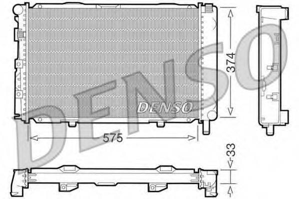 Радиатор, охлаждение двигателя DENSO DRM17064