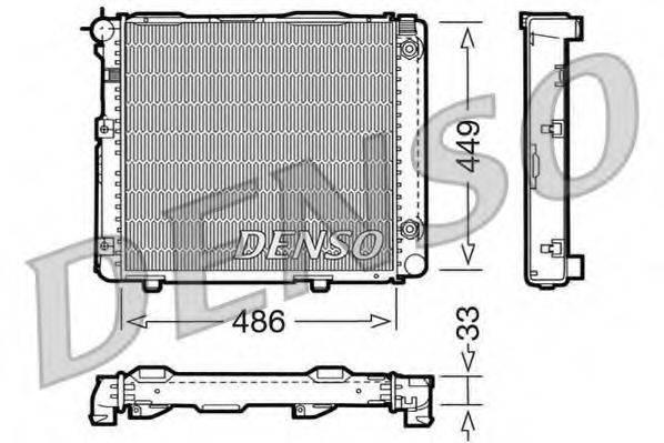 Радиатор, охлаждение двигателя DENSO DRM17067