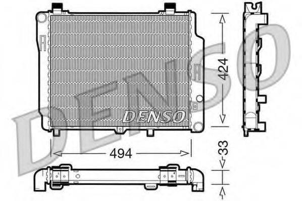 Радиатор, охлаждение двигателя DENSO DRM17074