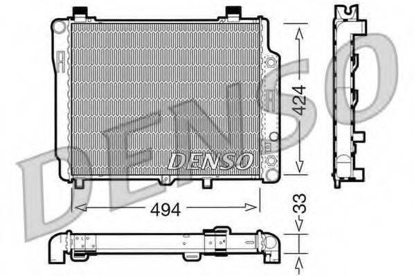 Радиатор, охлаждение двигателя DENSO DRM17075