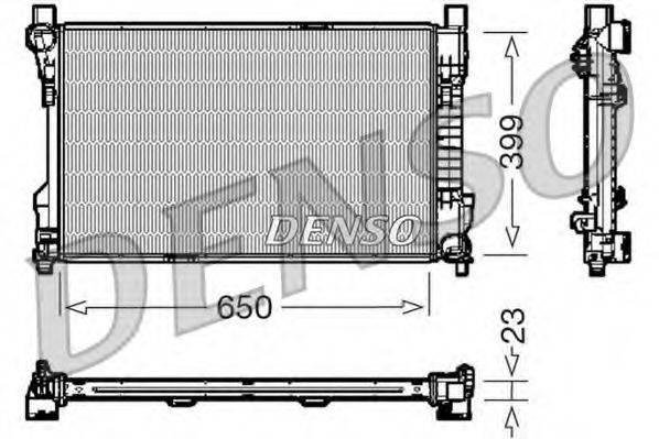 Радиатор, охлаждение двигателя DENSO DRM17081