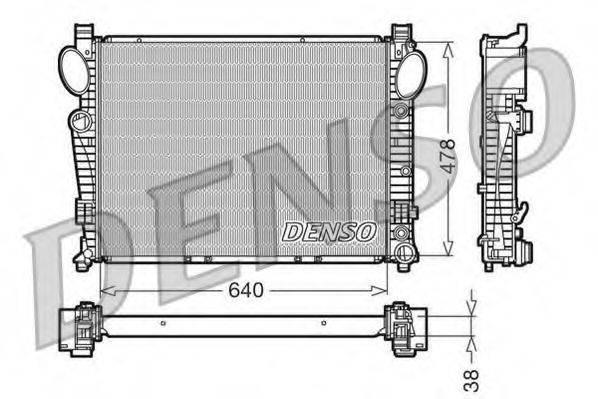 Радиатор, охлаждение двигателя DENSO DRM17095
