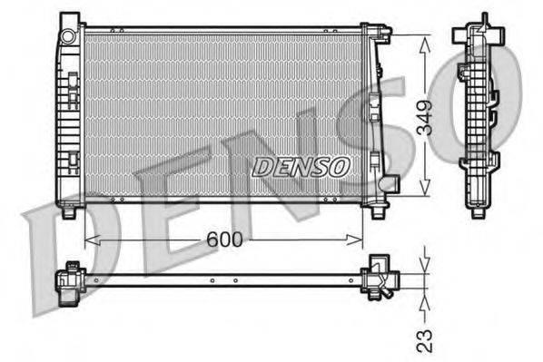 Радиатор, охлаждение двигателя DENSO DRM17100