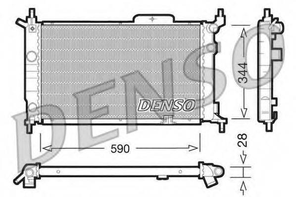 Радиатор, охлаждение двигателя DENSO DRM20015